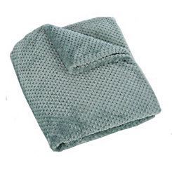 Aqua Cloud Throw Blanket