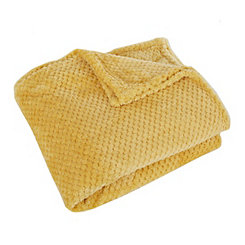 Yellow Cloud Throw Blanket
