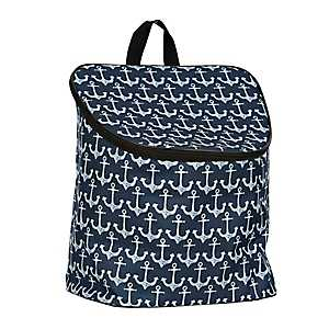 White Anchors Nautical Cooler Backpack