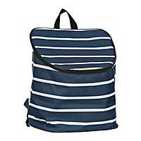 Blue Stripes Nautical Cooler Backpack