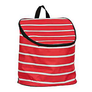 Red Stripes Nautical Cooler Backpack