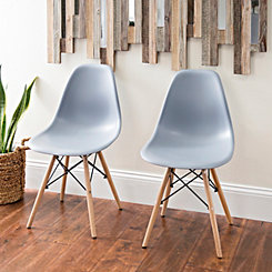 Gray Modern Home Accent Chair, Set of 2