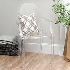 Clear Acrylic Accent Chair