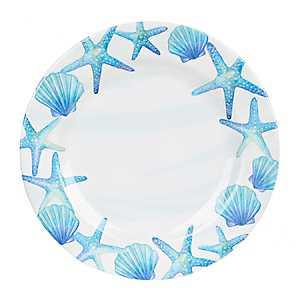 Blue Shells Melamine Dinner Plate