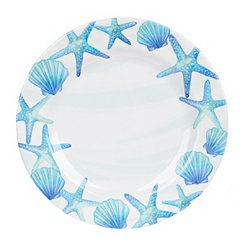 Blue Shells Melamine Dinner Plate