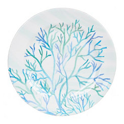 Blue Coral Salad Plate