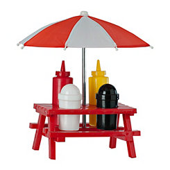 Red Backyard Picnic Condiment Set