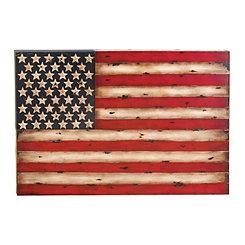 Rustic Metal American Flag