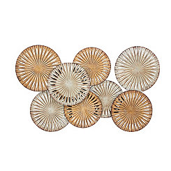 Abstract Bronze Discs Metal Wall Plaque