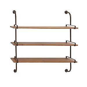 Wooden Pipe Shelf