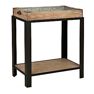 Galvanized Tray Top Table