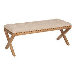 Kynzie X-Frame Wooden Bench