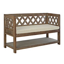 Diamond Natural Wood Bench