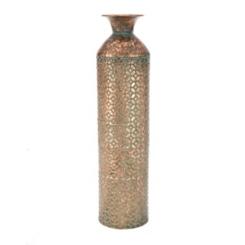 Rustic Geometric Turquoise Vase