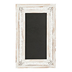 Rustic Cream Scroll Framed Chalkboard