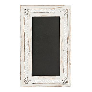 rustic cream scroll framed chalkboard