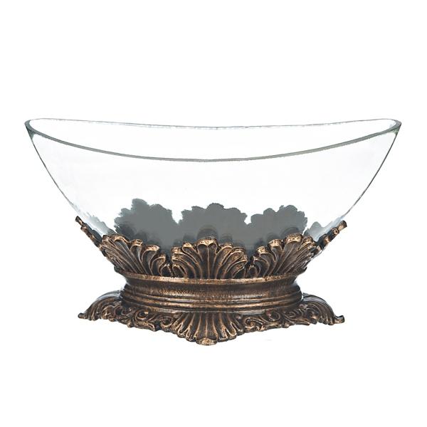 Gold Leaf Decorative Bowl