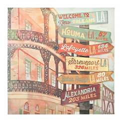 New Orleans Street Signs Canvas Art Print