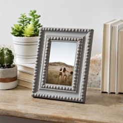 Distressed Gray Beaded Picture Frame, 4x6
