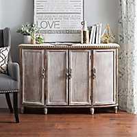 Alexandria Weathered Wood Cabinet
