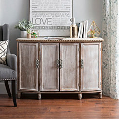 Alexandria Weathered Wood Cabinet
