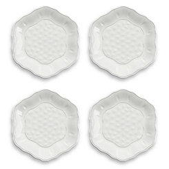 Savino White Salad Plates, Set of 4