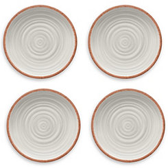 Rustic Swirl White Dinner Plates, Set of 4