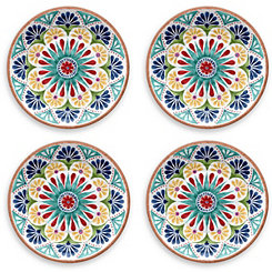 Rio Medallion Dinner Plates, Set of 4