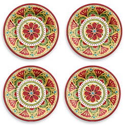 Carmen Medallion Dinner Plates, Set of 4