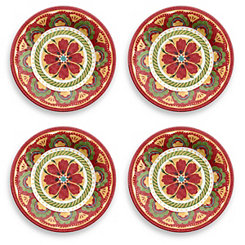 Carmen Medallion Salad Plates, Set of 4