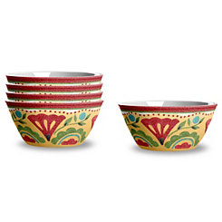 Carmen Medallion Bowls, Set of 4