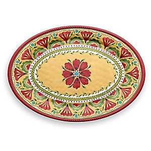 Carmen Medallion Oval Platter