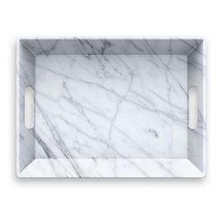 Carrara Marble Handled Serving Tray