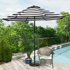 Black and White Stripe Patio Umbrella
