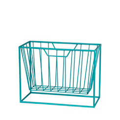 Blue Metal Magazine Rack