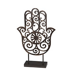 Antiqued Hamsa Metal Figurine