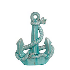 Turquoise Anchor Statue