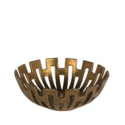 Gold Geometric Decorative Bowl