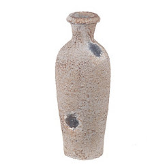 Antiqued White Ceramic Vase