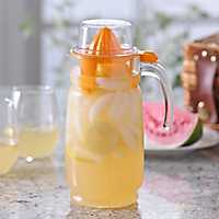 Glass Pitcher with Orange Juicer
