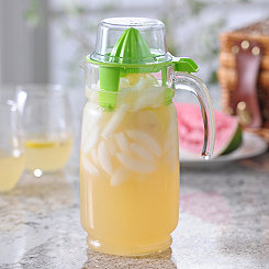 Glass Pitcher with Green Juicer