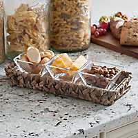 Water Hyacinth 3-Section Serving Tray