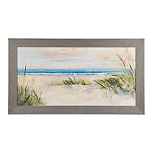 Catching the Wind Framed Canvas Art Print