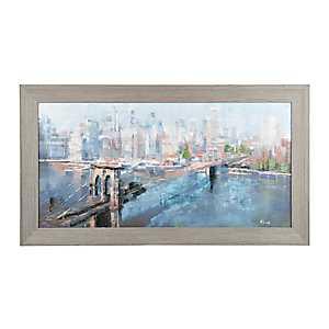 Cityscape Framed Canvas Art Print