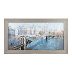 Cityscape Framed Canvas Art Print