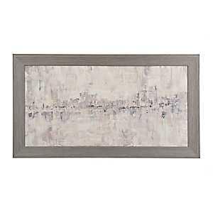 Gray Abstract Framed Canvas Art Print