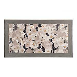 Velvety Florals Framed Canvas Art Print