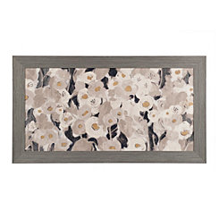 Velvety Florals Framed Canvas Art Print
