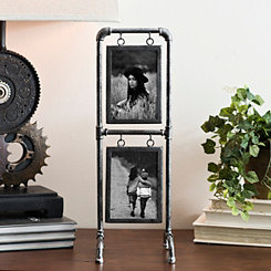 Vintage Metal Pipe Collage Frame
