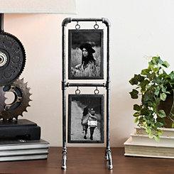 Vintage Metal Pipe Collage Frame